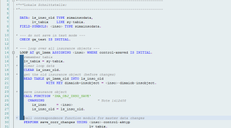 Vertical selecting in ABAP editor